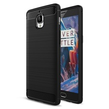 Phone Shell for OnePlus 3/3T Case Cover Carbon Fibre Brushed TPU Smart Phone Cases for OnePlus 3/3 T Mobile Phone Bag-Selling