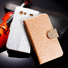 PU Leather Flip Case Bling Diamond Phone Case Cover For Samsung Galaxy S Advance i9070 GT-I9070 i9070 9070 Wallet Case Holster