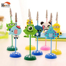 1 pcs CUSHAWFAMILY Mini cute silicone desktop figurines message note clip to clip pictures photo holder Home decor Arts crafts
