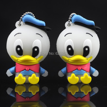 100% real 64gb capacity lovely Duck usb flash drive cartoon pendrive USB Pen Drive Disk Flash Memory Stick free shipping