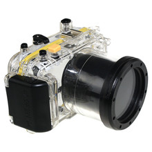 40 meters 130ft Underwater Waterproof Housing Diving Camera Case Bag for Panasonic GF2 14-42mm lens same as Meikon