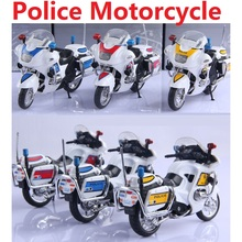 New Listing Alloy self loading police cars / 1:43 Police motorcycle model toys / DIY car models children's toys for Educational(China)
