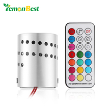 Modern LED Ceiling Light Aluminum Hollow Cylinder RGB Lamp 3W Remote Control Indoor Outdoor Decoration Home Lighting AC 85-265V(China)