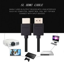 SL High Speed HDMI Male to Male Extension Extender Cable Gold Plated Supports 1080P and for Blu Ray Player3D Television 1m 1ft