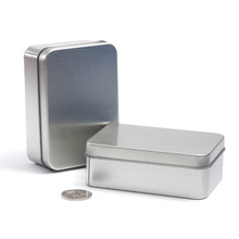 Credit card size metal tin box DIY blank case poker business cards Headphones storage boxes(China)