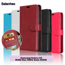 Cover For Samsung Galaxy S3 Luxury PU Leather Flip Case For Samsung Galaxy S3 I9300 Neo i9301 Duos i9300i Vertical Phone Cases
