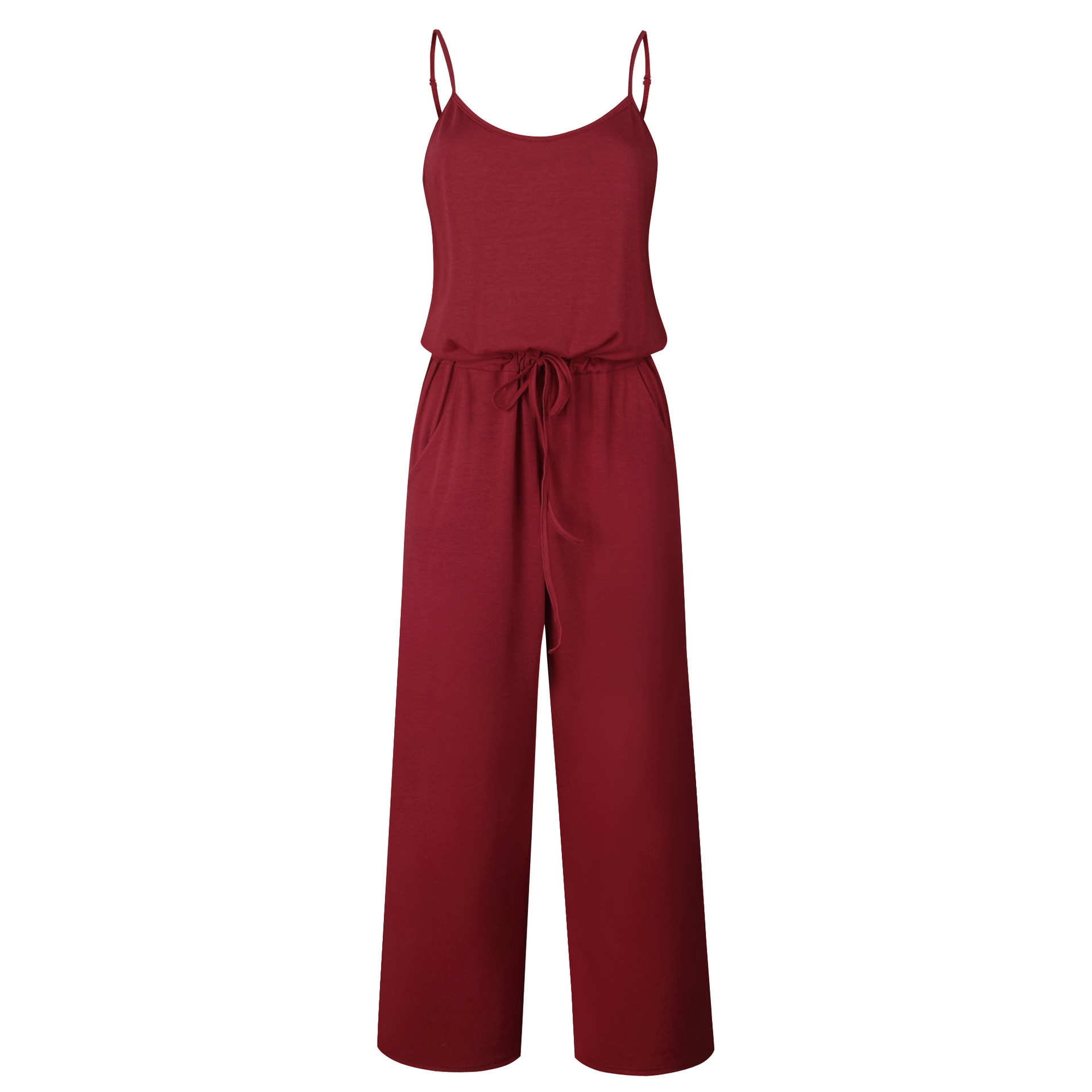 Spaghetti Strap Jumpsuit Women 2018 Summer Long Pants Floral Print Rompers Beach Casual Jumpsuits Sleeveless Sashes Playsuits 61