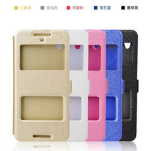 New Arrival PU Leather Double Window Silk Grain Magnetic Flip coque For HTC desire 626 628 d628 High Quality phone Holster Case