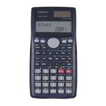 Scientific Calculator 401 Functions Matrix Dot Vector Equation Calculate Solar Dual Powered 2 Line Display SAT/AP Test Calculate(China)