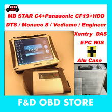 CF19+MB Star C4 SD Connect+Vediamo/DTS HDD+Alu case Xentry Diagnostics System Compact 4 Mercedes Diagnosis Multiplexer For Benz