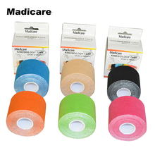 New Synthetic Kinesiology Tape 5cm5m Viscose Shiny Athletes Replace Origin Cotton Sports Kinesiology Elastic Muscle Knee Support(China)