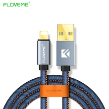 FLOVEME Cable for iPhone Cable 2.1A USB Charging Sync Data Cable for iPhone 7 6 6S Plus 5 5S SE for iPad Mini Air Charger 1m