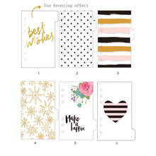 2017 Dokibook Winter Series PP Transparent Divider Day Planner Index Filler Matching Filofax Kikkik A5A6A7 Creative Stationery