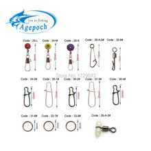 Apgepoch 20pcs Swivel Fishing Rolling Brass Barrel Triple Swivels Bearing Connector Solid Ring Fishing Tackle Accessories