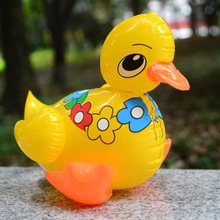 Small lovely flowers duck inflatable toy Rhubarb duck inflatable animals Children's animals