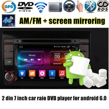 7 inch 2 din Android 6.0 Car DVD GPS Radio RDS Wifi 4G SIM LTE Quad Core touch screen AM FM for Fiat Bravo 2007-2012