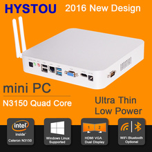 Intel Celeron N3150 Mini PC Linux HTPC OpenELEC Support 4K HD Minipc Fanless Micro Computer  WiFi&Bluetooth Mini PC Com Windows