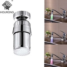 1 Pcs LED Water Faucet Light Glow Shower Head Kitchen Faucet Extenders Bathroom Accessories Sets(China)