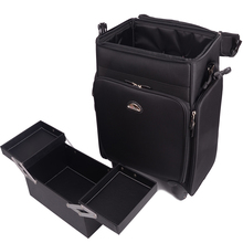 Large-capacity lightweight canvas Trolley Cosmetic Case makeup box outlet section Beauty Bag with wheels