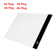 2017 New Ultra Thin A4 LED Light Stencil Touch Board Copy Painting Drawing Board Table Pad Dimmable EU/UK/AU/US Plug