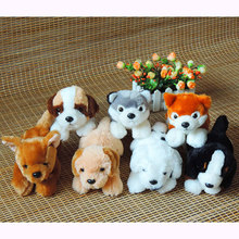 1pc 20cm Kawaii Real-Like Puppy Dogs Plush Toy Stuffed Simulated Dog Husky Lab Pom St Bernard Spotty Chihuahua Kids Toys Gifts(China)