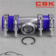 "2"" 50mm SSQV SQV Blow Off Valve Adapte BOV Turbo Intercooler Stainless Steel Pipe +silicone +clanps blue"