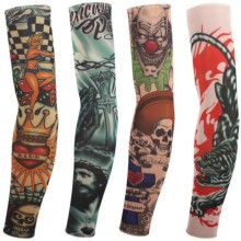 1Pcs New Sex Product 100% Nylon Elastic tattoo Sleeves Fake Sleeve Body Arm Stockings Fashion Arm Stocking Temporary Tattoos