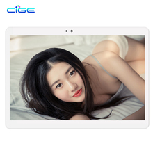 CIGE 2017 Newest 10.1 inch Tablet PC Octa Core 4GB RAM 64GB ROM Dual SIM Cards Android 6.0 GPS 3G 4G LTE Tablet PC 10+ Gifts(China)