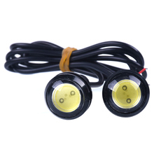 2pcs red Eagle Eye Hawkeye LED Strobe Light Lamp Daytime Running Light for Boat Marine Car SUV Off-Road Motorcycle