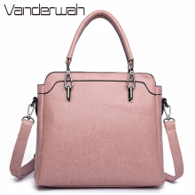 VANDERWAH PU Leather Ladies Hand Bags Women Shoulder Bag High Quality Designer Luxury Brand Commuter Office Ring Tote Bag Flap(China)