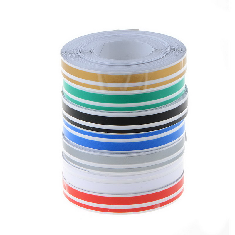 7 Colors 4mm&2mm 980cm Stripe Tape Streamline Decals Stickers for Car DOUBLE LINE Tape title=