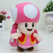 "2017 Free Shipping 6.5"" 17cm Plush Toy Super Mario Plush Toys Mushroom Toadette Stuffed For Baby Gifts"