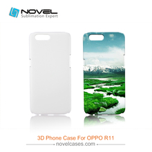 China 3D Polymer Blank Cell Phone Case For Oppo R11, 3D Sublimation case(China)