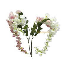 1pc Hot Silk Artificial Wisteria Flower Floral Leaf Vase Home Wedding Decoration