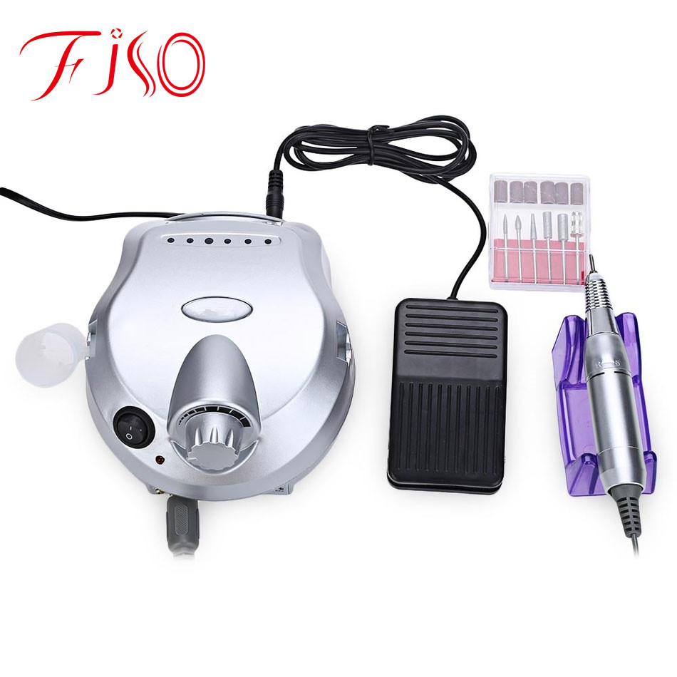 Professional Nail Art Equipment Low Noise and Vibration Electric Nail Art Polisher File Drill Manicure Pedicure Machine<br><br>Aliexpress