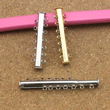 10pcs/lot Gold/Rhodium Color Magnetic Clasp Buckle Hooks With 7 Loops for DIY Bracelet Necklace Jewelry Connectors DIY F786C