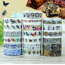 DIY 10M Cute Kawaii Decorative Washi Tape Lovely Lace Flower Masking Tape For Photo Album Diary Free Shipping 3020