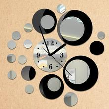 Hot!Newly Design Removable Diy Acrylic 3D Mirror Wall Sticker Decorative Clock 2017 Popular Drop Shipping Apr26