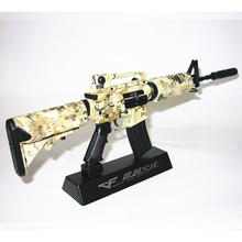 Metal Toy GUN M4A1 Pistol With Silencer Guns Juguetes Arma De Brinquedo Armas de Metal Toys TOY Gun Model Diy Assemble Weapon(China)