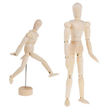 NEW 3 size Artist Movable Limbs Male Wooden Toy Figure Model Mannequin bjd Art Sketch Draw Action Toy Figures