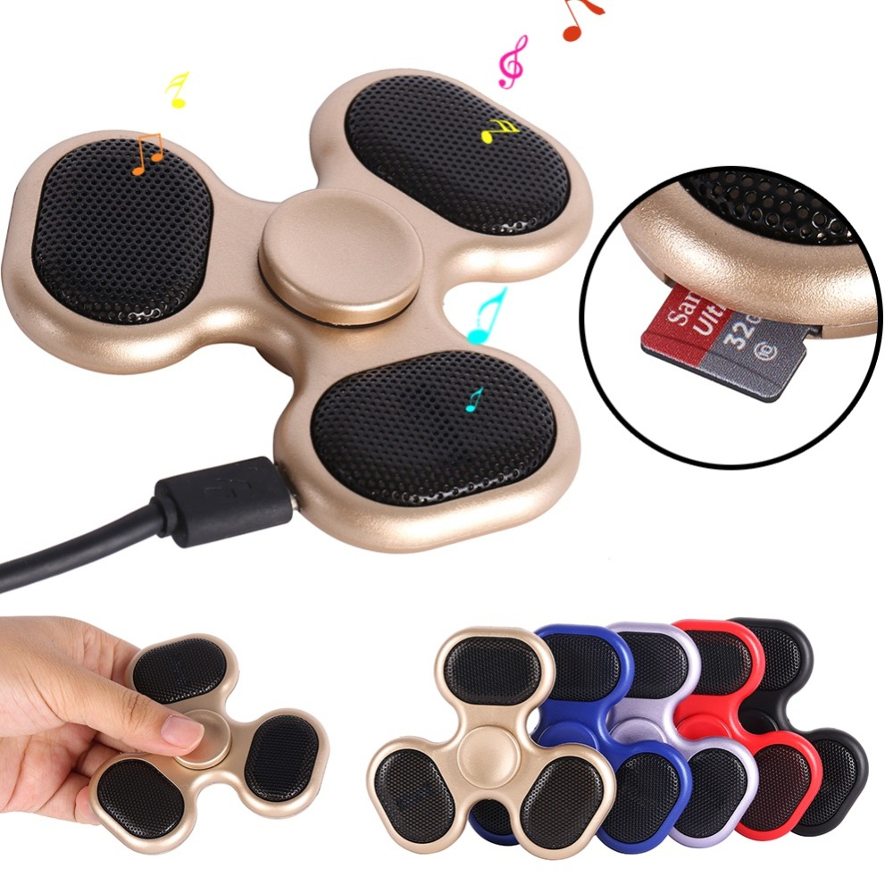 New Finger ABS EDC Hand Spinner Kids Autism ADHD Handspinner LED Bluetooth Speaker Music Finger Spinner