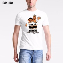 Chilin tip and tap Jersey Tops Mens German T-Shirts Fashion Men 1974 World Cup Mascot T Shirt Free Shipping Tops Boys Tee(China)