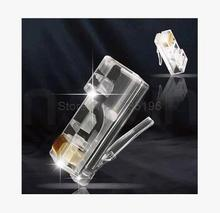10pcs RJ45 8p8c Cat6 connector/ jack /socket Crystal head network interface 100% new original packing