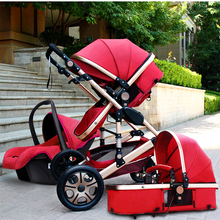 JT baby star Baby Stroller Pushchair 3 in 1,High Landscape Fold Strollers for Children Travel System,Prams for Newborns(China)