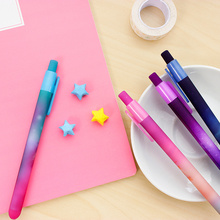 6 pcs/Lot Beautiful starry sky gel pen Star dream and explore black ink pens Stationery Office accessories School supplies 6585(China)