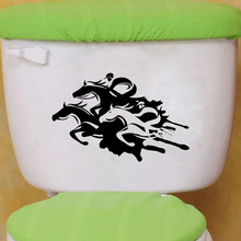 Horse Racing Fashion Home Decor Vinyl Wall Sticker Toilet Decal 6WS0184
