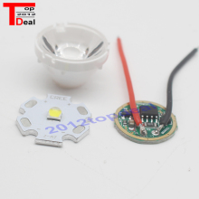 CREE 10W XPL XP-L V5 V6 Led Emitter Light WHITE Diode Chip 16MM 20MM Aluminum PCB+Input 16mm 3.7V LED driver+lens