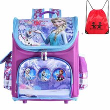 New arrivel backpack snow queen School Bag Orthopedic Children School Bag cars School Backpack Mochila Infantil for girls(China)