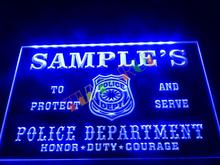 DZ071-  Name Personalized Custom Police Station Badge Bar Beer Neon Sign  hang sign home decor shop crafts