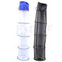 5 Layers Collapsible Fish Crawdad Shrimp Minnow Fishing Bait Trap Dip Net Cage
